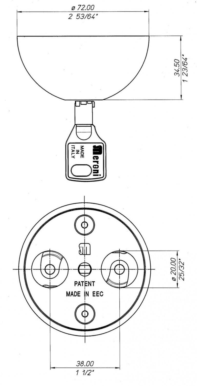 Cerradura furgoneta doble, para dos puertas Meroni