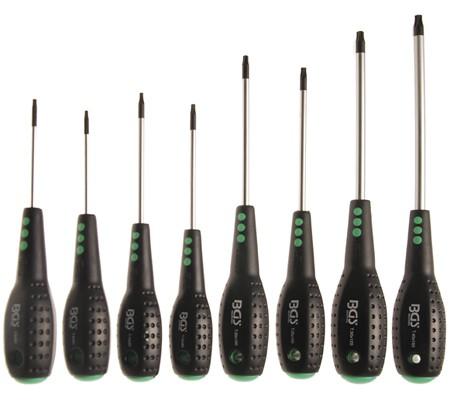 Juego 8 piezas de destornilladores Torx (T-Star) T8-T40, imantados (Art. 7948)