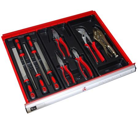 Carro de herramientas 7 cajones KRAFTMANN con dotación en 5 cajones (Art. 4070)