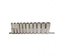Juego 11 piezas de llaves de vaso largas 3/8 8-19 mm (Art. 2222)