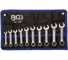 Juego 10 piezas de llaves combinadas extra cortas 10-19 mm (Art. 1188)