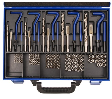 Juego 130 piezas para reparar roscas insertadas M6 - M14 (Art. 1951)