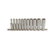 Juego 11 piezas de llaves de vaso largas 1/4 4-13 mm (Art. 2221)