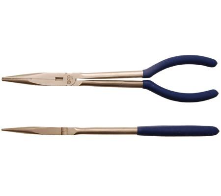 Alicate de boca semirredonda, extra largo, 280 mm (Art. 410)