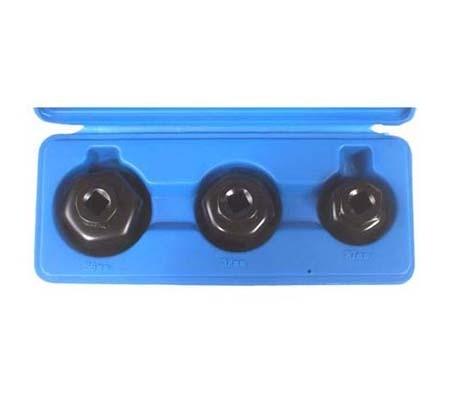 Juego 3 piezas de cazoletas para filtros de aceite (Art. 1037)