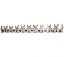 Juego 10 piezas llaves boca hexagonal abierta (crowfoot) 3/8, 10-19 mm (Art. 1756)
