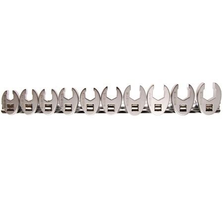 Juego 10 piezas llaves boca hexagonal abierta (crowfoot) 3/8