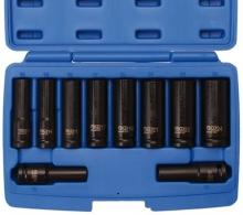 Juego 10 piezas de llaves de vaso de impacto 1/2, 10 - 24 mm (Art. 5206)