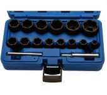 Juego 16 piezas de vasos extractores en espiral 1/2, 8-27 mm (Art. 5269)