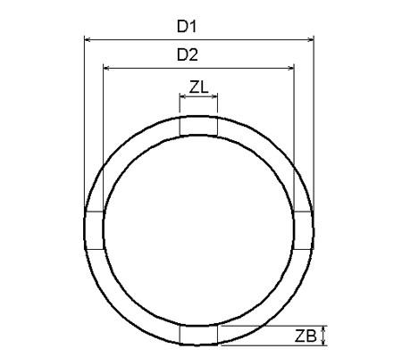 Juego 11 pzs. de vasos almenados para tuercas ranuradas, 22-75 mm (Art. 8265)