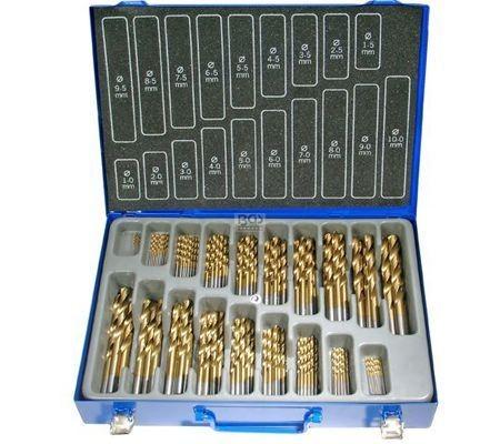 Juego 170 piezas de brocas HSS con cobertura de titanio (Art. 1994)