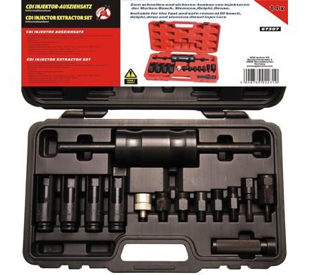 Juego 14 piezas de extractor de inyectores (Art. 67307)