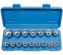 Juego 16 piezas de llaves de vaso bi-hexagonal 1/2 8-24 mm (Art. 2226)