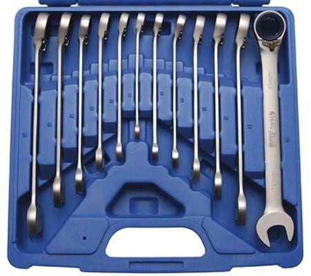 Juego 12 piezas de llaves combinadas con carraca, reversible 8-19 mm (Art. 30902)