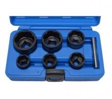 Juego 6 piezas de llaves de vaso extractoras en espiral, 22-41 mm, 1/2 + 3/4 camion (Art. 5268)