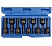 Juego 9 vasos de impacto con puntas Torx T-Star T20-T70, 1/2 (Art. 5480)