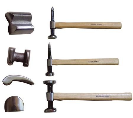 Juego 7 piezas de tases y martillos (Art. 1672)